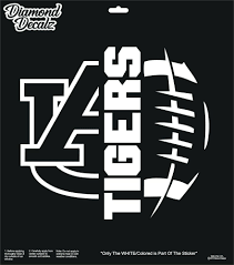 Auburn Tigers Vinyl Decal Nfl Football Half Ball Car Truck Suv Window Sticker Diamonddecals Car Decals Vinyl Gold Vinyl Decals Auburn Tigers