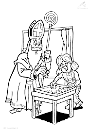 Kleurplaat Sinterklaas Sint Sinterklaas Puzzel