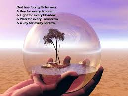 god has four gifts for you a key for every problem a light for