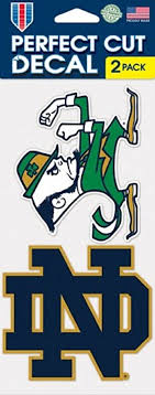 Amazon Com Wincraft Notre Dame Fighting Irish Auto Decals 2 Pack 4 By 4 Each Sports Fan Automotive Decals Sports Outdoors