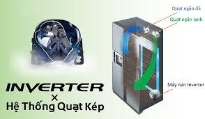 Tủ lạnh Hitachi Inverter 605 lít R-FS800GPGV2(GBK) (2019) - Công nghệ làm  lạnh:Hệ thống làm lạnh quạt kép - Công nghệ kháng khuẩn, khử mùi:Màng lọc  Nano Titanium, Đệm cửa chống nấm