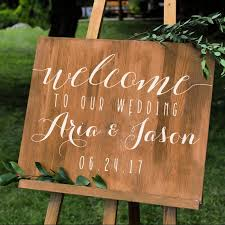 Simple Personalized Wedding Welcome Sign Names And Date Wall Decal Custom Vinyl Stickers For Weddings Wedding Signs Chalkboard Mirrors 2723556 Weddbook