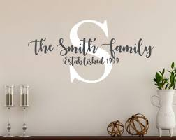 Family Vinyl Decal Etsy