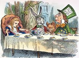 ALICES MAD-TEA PARTY, 1865. Alice joins the March Hare, the Hatter ...