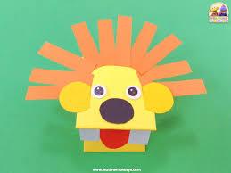 Paper Lion Hand Puppet Craft - Tea Time Monkeys