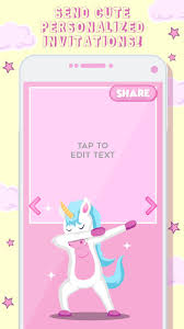 Invitaciones De Cumpleanos Unicornio For Android Apk Download