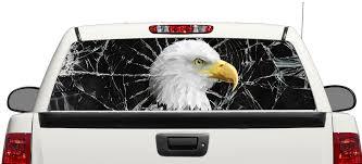 Product Eagle Brocken Glass Rear Window Decal Sticker Pick Up Truck Suv Car 3