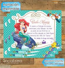 Invitacion Digital Sirenita Ariel 85 00 En Mercado Libre