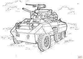 M8 Greyhound Licht Gepantserde Auto Kleurplaat Gratis