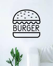 Burger Wall Decal Sticker Vinyl Art Bedroom Living Room Decor Decorati Boop Decals