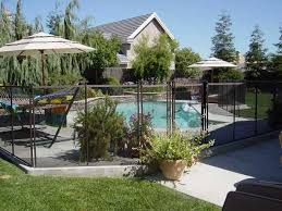 Retractable Fencing For Pools Pool Landscaping Pool Fence Backyard Pool