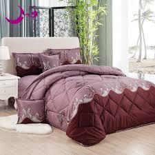 4 6 pcs brick red comforters set