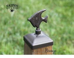 Decorative Fish Post Cap For 4x4 Wood Fence Post Wood Fence Post Fence Post Wood Fence