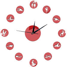 Amazon Com Freesa Clocks Mirror Wall Clock Clock Wall Sticker Decor Mural Decals Home Decoration Acrylic Artistic Creative Personality Frameless Giant Clock Suitable For Bedroom Living Room Red Home Kitchen