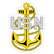 Navy Rank E 7 Chief Petty Officer Insignia Sticker