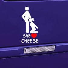 She Loves Cheese Car Sticker Women And Men Love Vinyl Decal Sticker Funny Personality Body Decals Car Accessories Jdm Sticker Fun Stickersticker Bomb Aliexpress