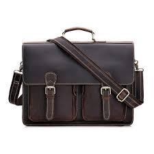 leather briefcase laptop