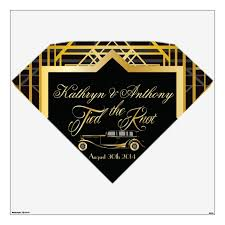 Roaring Twenties Gatsby Style Wall Decal Marquis Zazzle Com