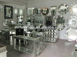 hot ing round mirrored dining table