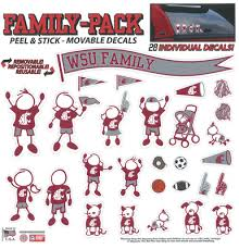 Washington State University Cougars Wsu Wazzu Cougs Family Decals Wincraft Usc Trojans Family Car Decals