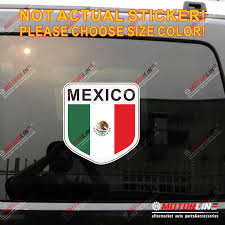 Flag Of Mexico Mexican Decal Sticker Car Vinyl Reflective Glossy Shield B Pick Size High Quality Car Stickers Aliexpress