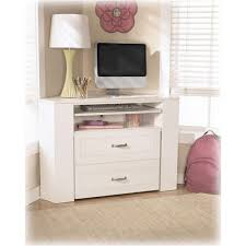 B102 15 Ashley Furniture Lulu Corner Desk Media Unit With Stool