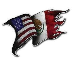 Usa Mexico Flag Decal Vinyl Tattered Waving Car Truck Window Eagle Bumper Auto 1 Ebay