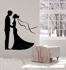 Vinyl Wall Decal Wedding Dress Salon Boutique Bride Groom Stickers 27 Wallstickers4you