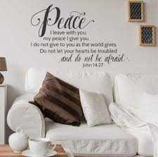John 14 27 Peace I Leave With You Wall Decal A Great Impression