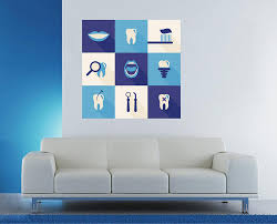 Cik1528 Full Color Wall Decal Services Teeth Dentist Dental Surgery Cl Stickersforlife