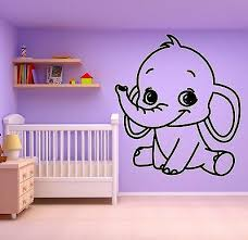 Kids Nursery Room Wall Decals Tagged Baby Elephant Wallstickers4you
