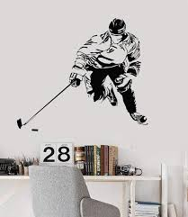 Vinyl Wall Decal Ice Hockey Player Sports Art Room Decoration Stickers Wallstickers4you