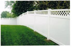 Vinyl Diagonal Lattice Lattice Fences Affordable Fence Installation Boston Ma