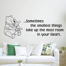 Amazon Com Wall Decals Winnie The Pooh Wall Decal Classic Sometimes The Smallest Things Take Up The Most Ro Nursery Wall Decals Disney Wall Decals Wall Decals