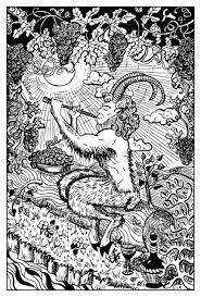 Pan Satyr Fantasie Illustratie Stockvector C Samiramay 135232596
