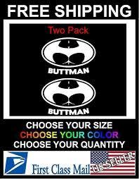 Buttman Vinyl Decal Sticker Window Car Truck Funny 3c Signs