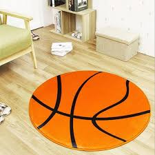 Fashion Orange Basketball Round Carpet Children Room Area Rugs Washable Non Slip Chair Mat Boys Black White Football Soccer Rug High End Carpet Brands Carpet Shaw From Williem 24 68 Dhgate Com