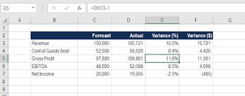 variance formula example