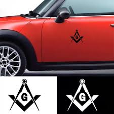 Vova Fashion Masonic Freemason Decal Compass Square Decor Car Truck Emblem Sticker