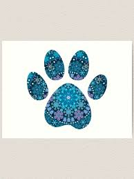 Dog Paw Print Bohemian Snowflakes Art Print By Nesttonest Redbubble