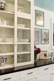 41 wallpaper inside kitchen cabinets