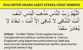 doa untuk orang sakit doa penyakit orang