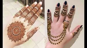 easy simple modern mehndi design