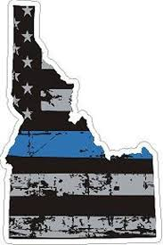 Idaho State Thin Blue Line Distressed Flag Reflective Or Matte Etsy
