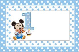 Imagenes De Mickey Mouse Baby 1 Ano Para Imprimir Imagui