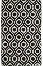 madisons black and white rug geometric