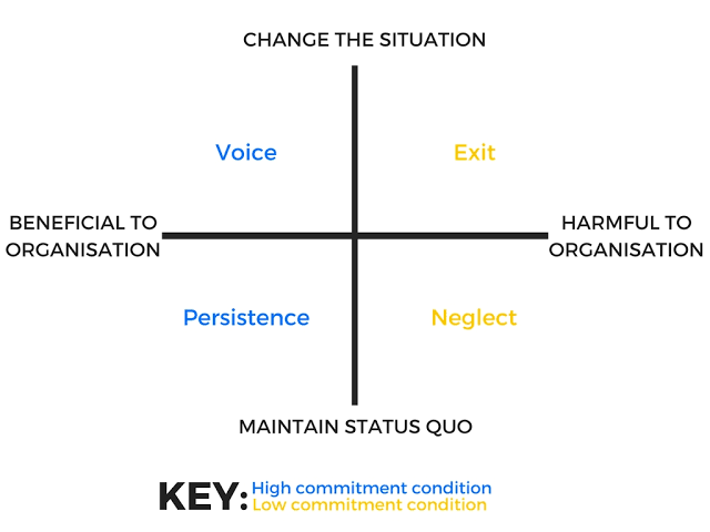 Image result for exit, voice, neglect or persistence""