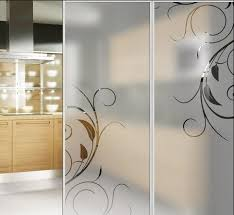 china toughened acid etched glass doors