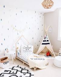 We Are So About This Playful Toddler Room From Mini Style Theo Cool Toddler Beds Toddler Room Boys Wall Decals
