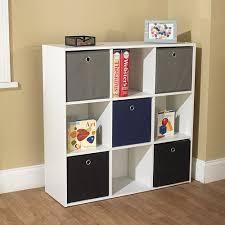 Tms Utility Kids Bookshelf With 5 Fabric Storage Bins Multiple Colors Walmart Com Walmart Com